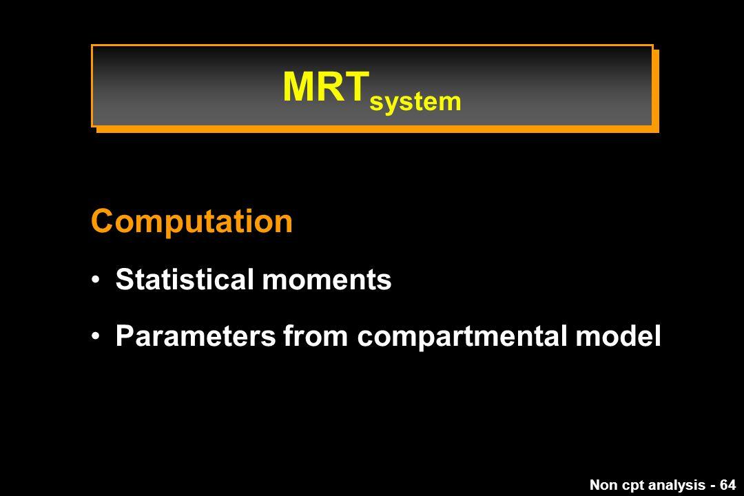 MRTsystem Computation Statistical moments