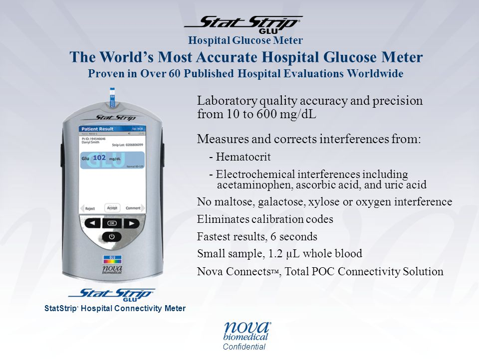Laboratory quality accuracy and precision from 10 to 600 mg/dL