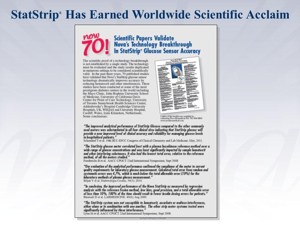 StatStrip® Has Earned Worldwide Scientific Acclaim