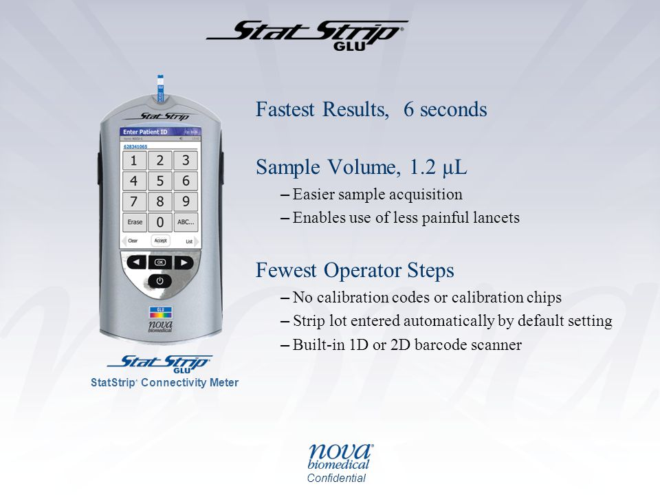 Fastest Results, 6 seconds Sample Volume, 1.2 µL