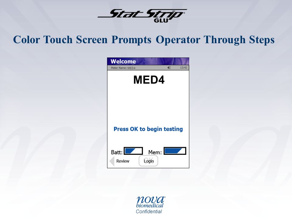 Color Touch Screen Prompts Operator Through Steps