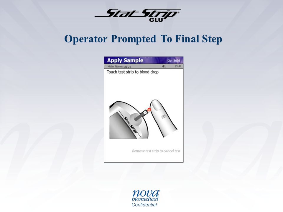 Operator Prompted To Final Step