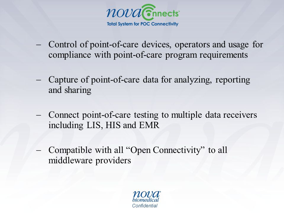 Control of point-of-care devices, operators and usage for compliance with point-of-care program requirements