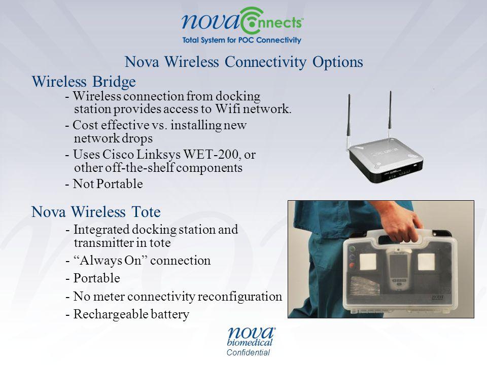 Nova Wireless Connectivity Options