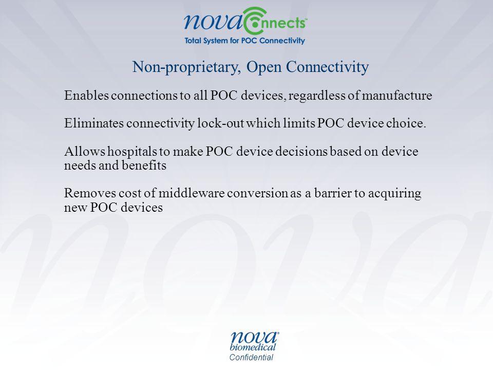 Non-proprietary, Open Connectivity