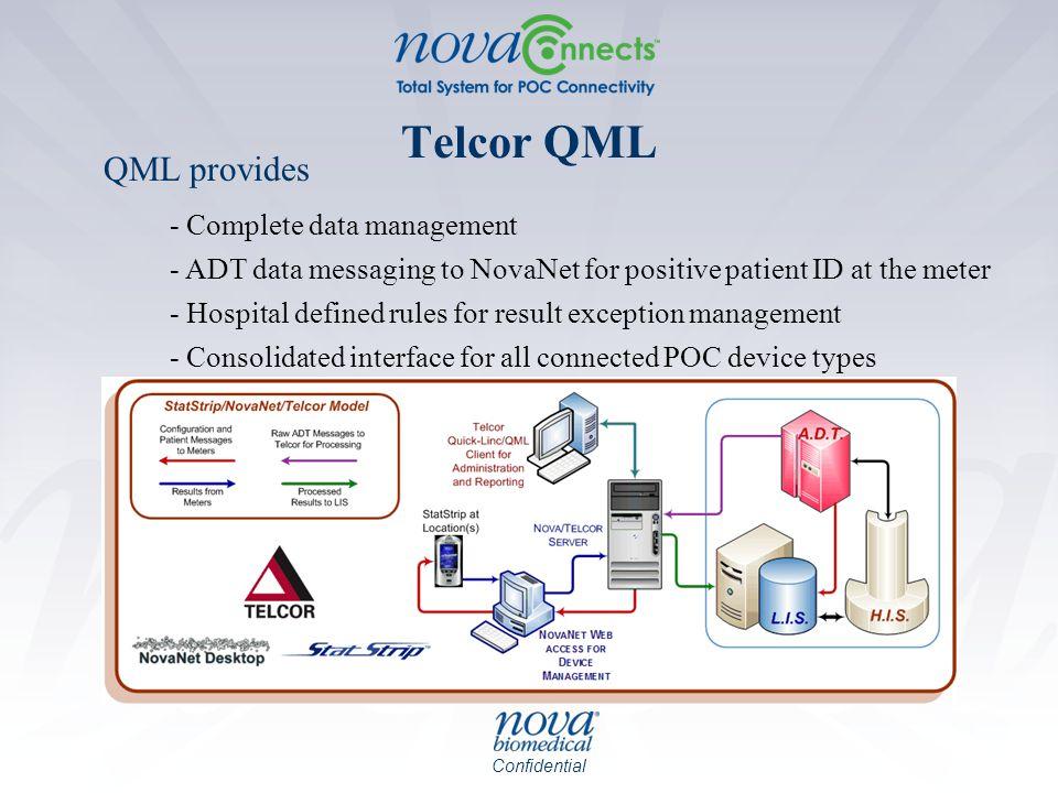 Telcor QML QML provides - Complete data management