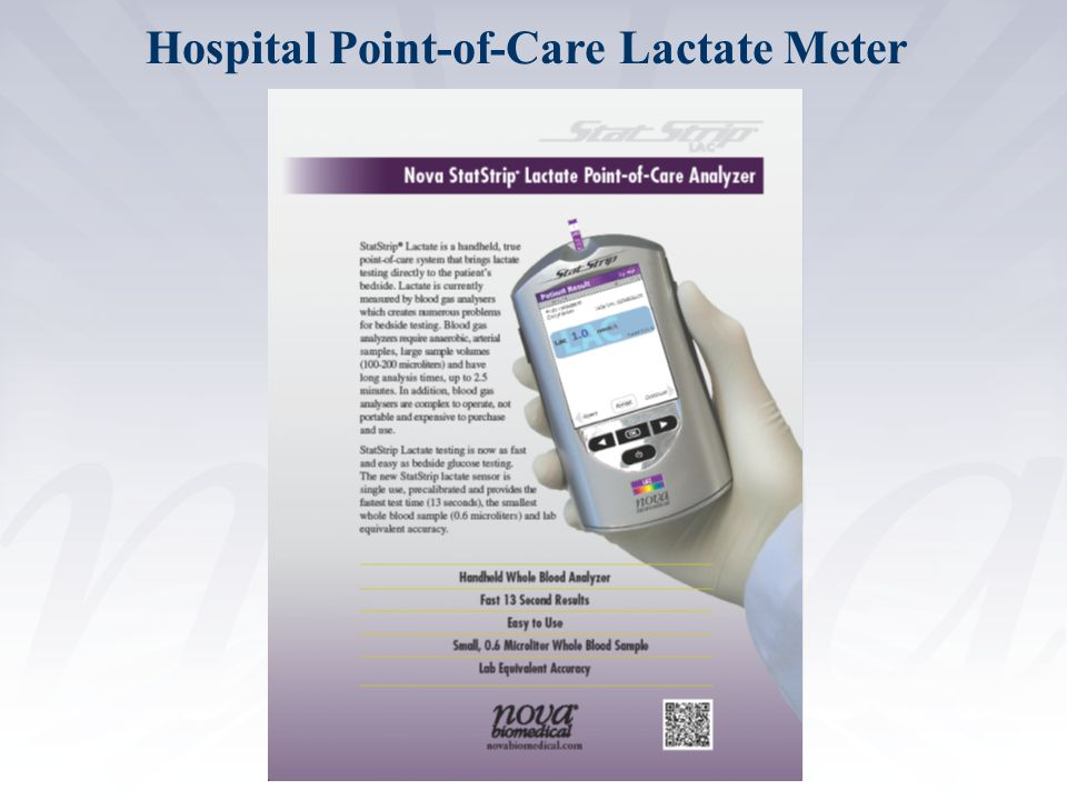 Hospital Point-of-Care Lactate Meter