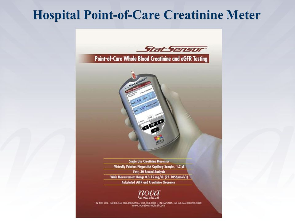 Hospital Point-of-Care Creatinine Meter