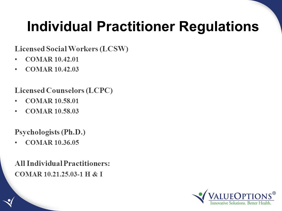 Individual Practitioner Regulations