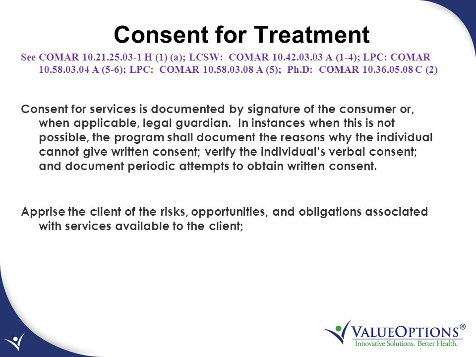 Consent for Treatment