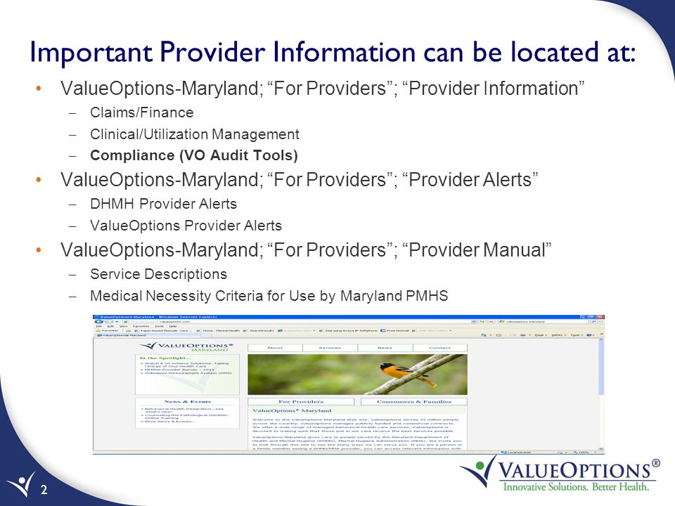 Important Provider Information can be located at: