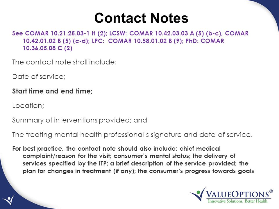 Contact Notes