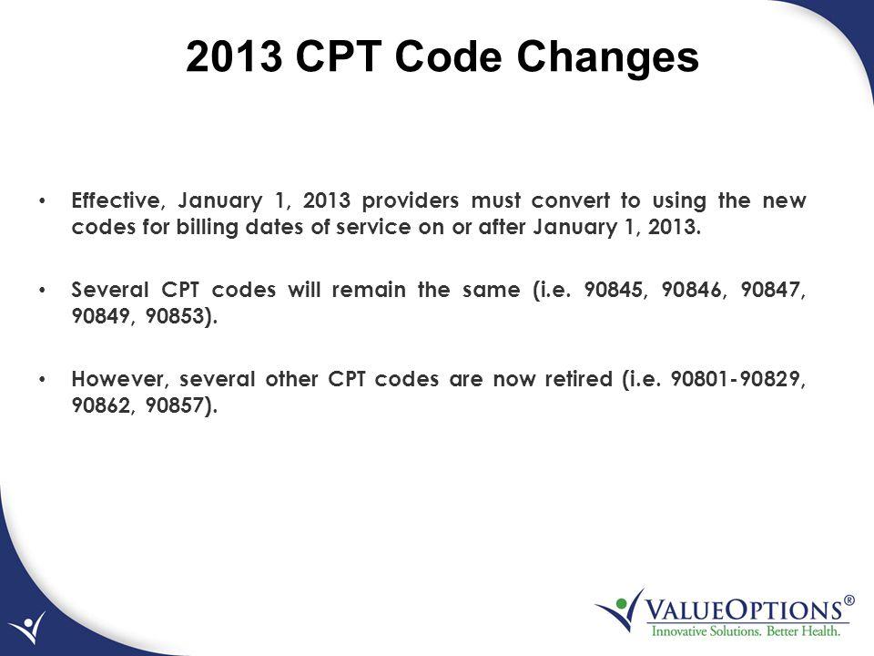 2013 CPT Code Changes