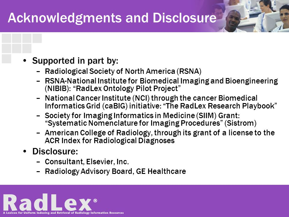 Acknowledgments and Disclosure