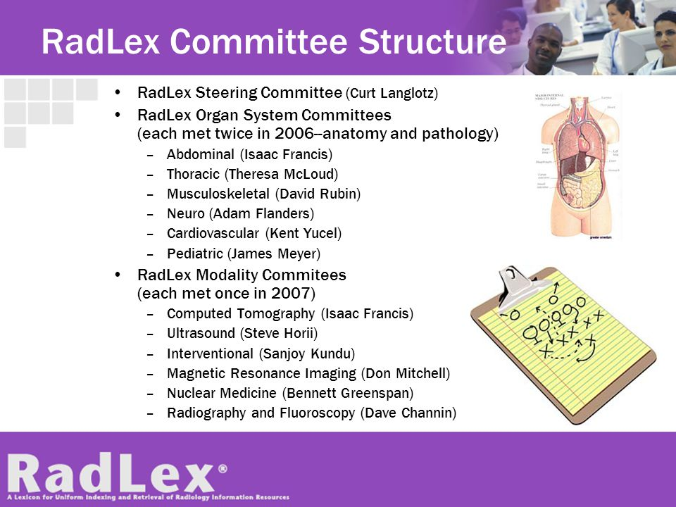 RadLex Committee Structure