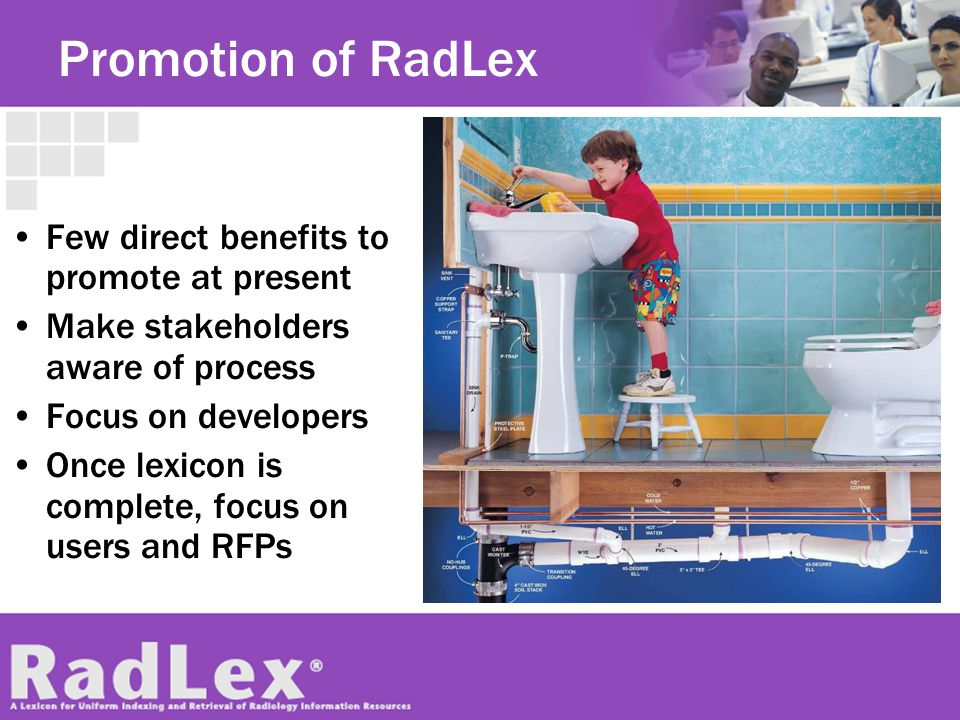 Promotion of RadLex Few direct benefits to promote at present