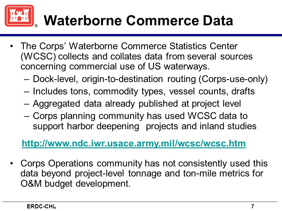 Waterborne Commerce Data