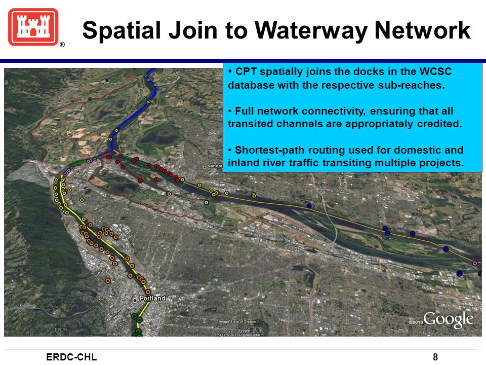 Spatial Join to Waterway Network