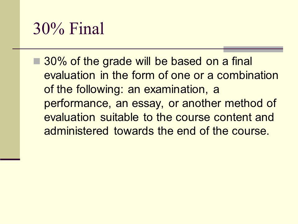 30% Final