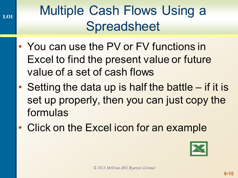 Multiple Cash Flows – PV Example 2