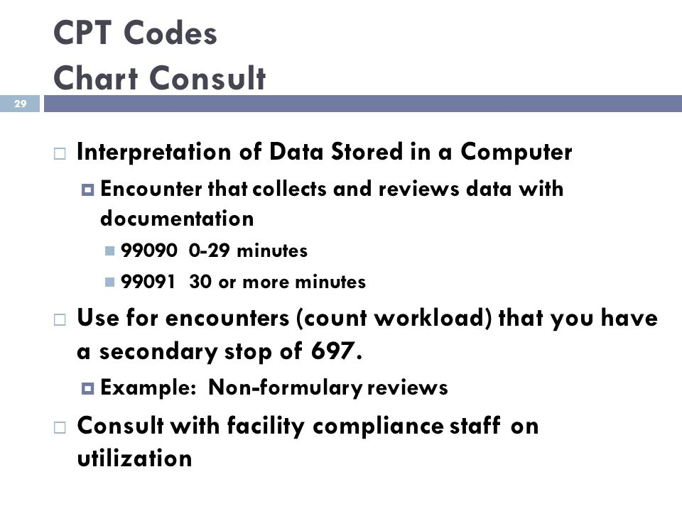 CPT Codes Chart Consult