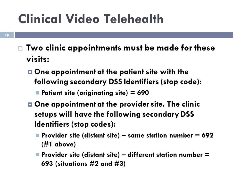 Clinical Video Telehealth