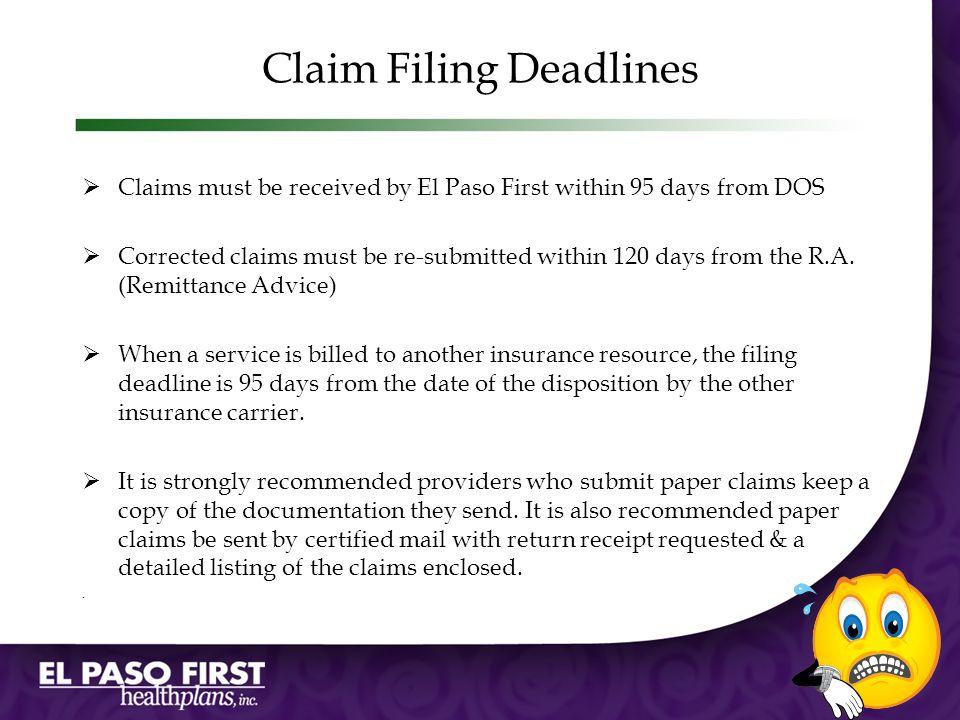 Claim Filing Deadlines