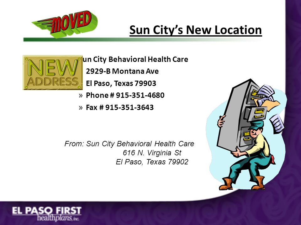Sun City's New Location