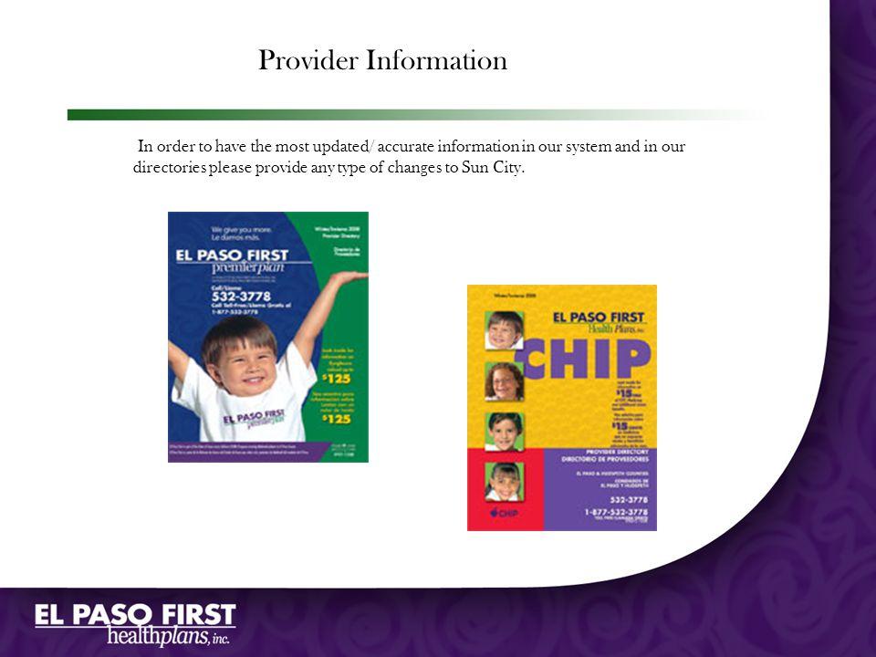 Provider Information