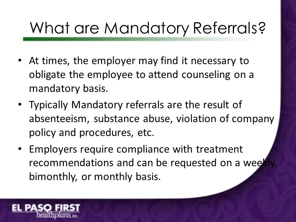 What are Mandatory Referrals