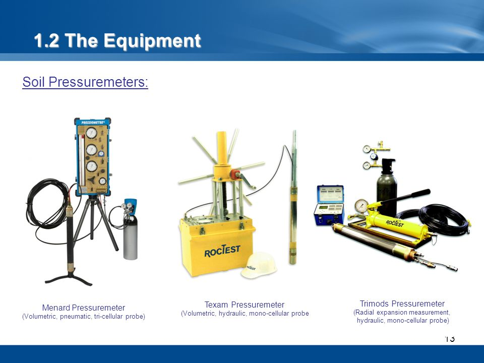 1.2 The Equipment Soil Pressuremeters: Texam Pressuremeter