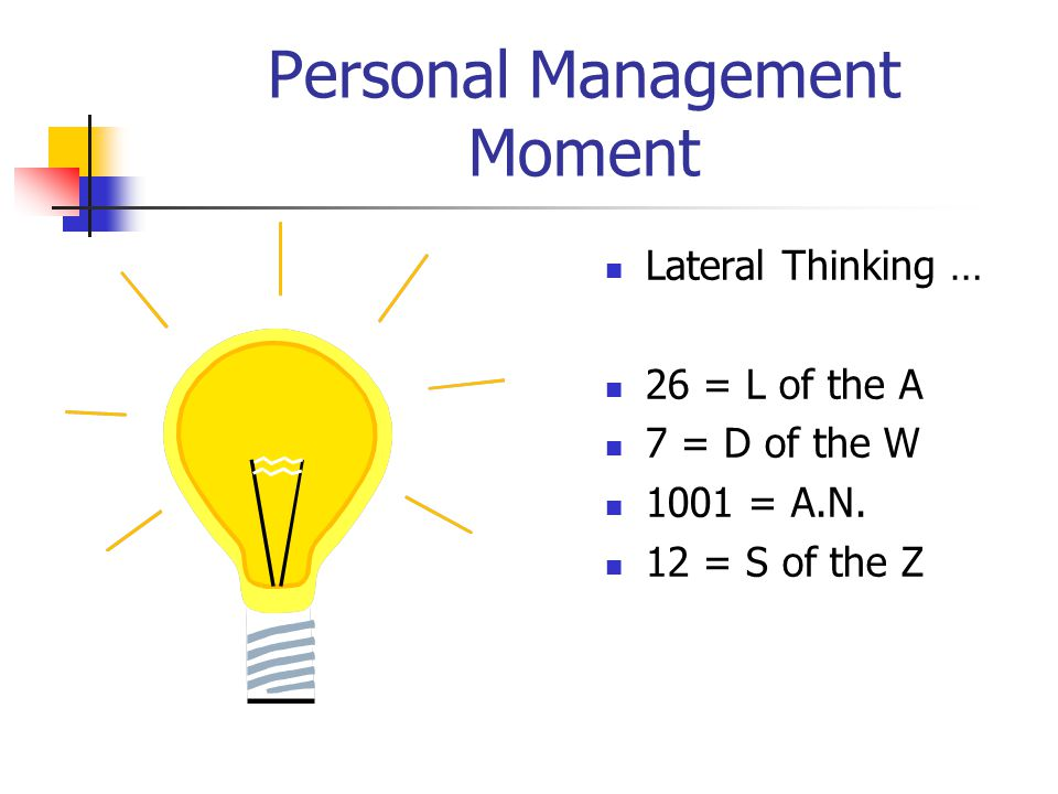 Personal Management Moment