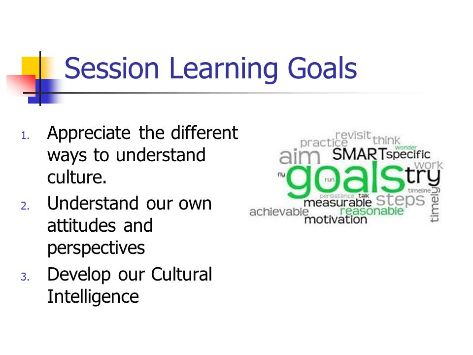 Session Learning Goals