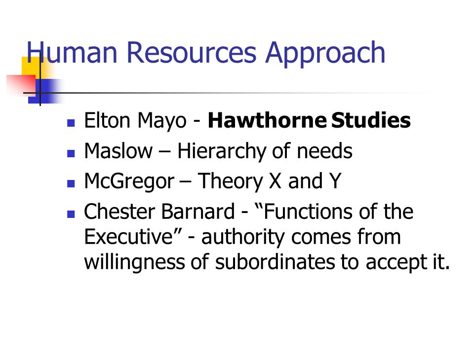human resources management theory elton mayo Management theory and practice  specialization: human resources  taylor -  henry laurence gantt - henri fayol - robert owen - max weber - george e  mayo -  george e mayo, also known as elton mayo (1880-1949), was an aus.