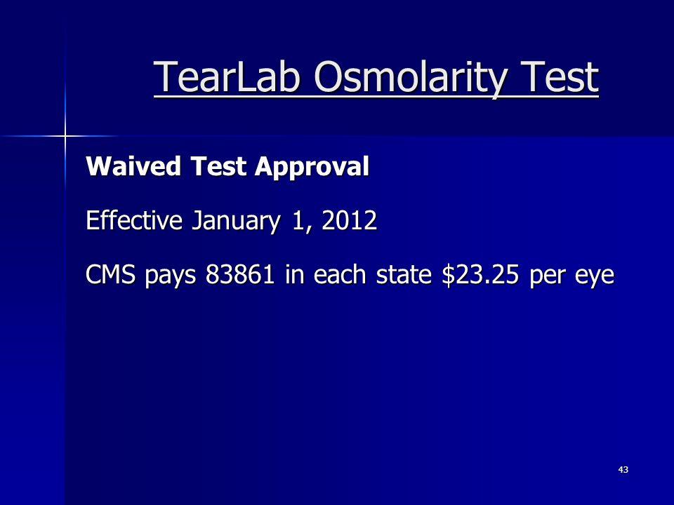 TearLab Osmolarity Test