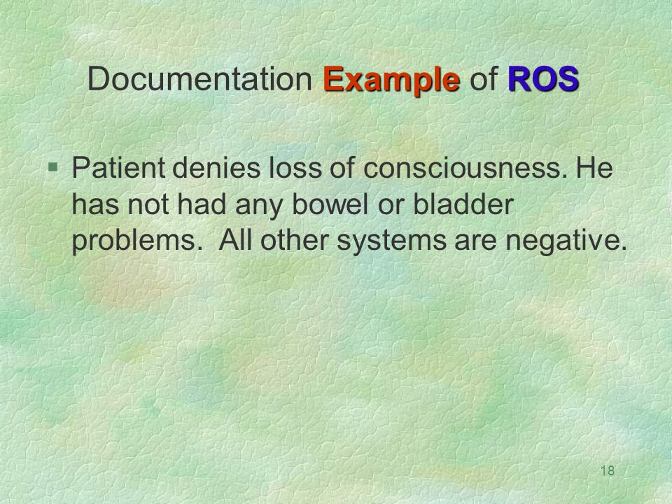 Documentation Example of ROS