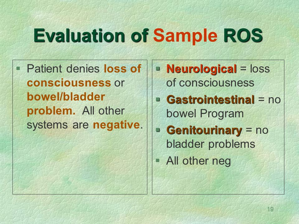 Evaluation of Sample ROS