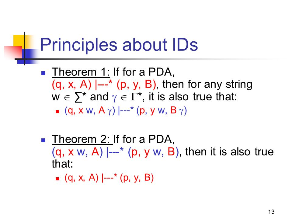 Cpt S 317: Spring 2009 Principles about IDs.