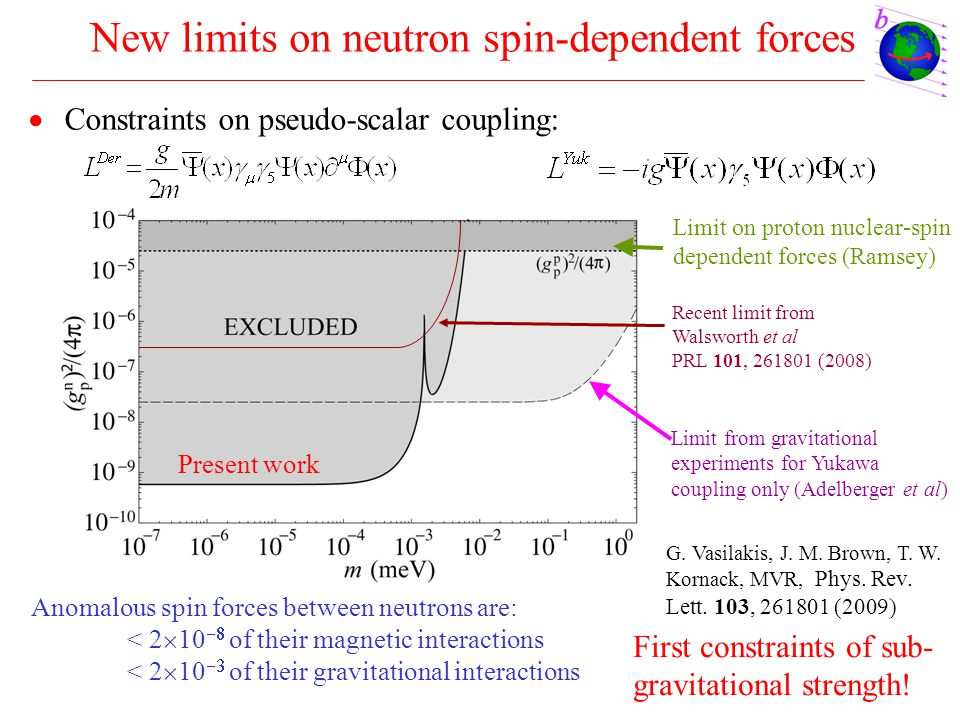 New limits on neutron spin-dependent forces