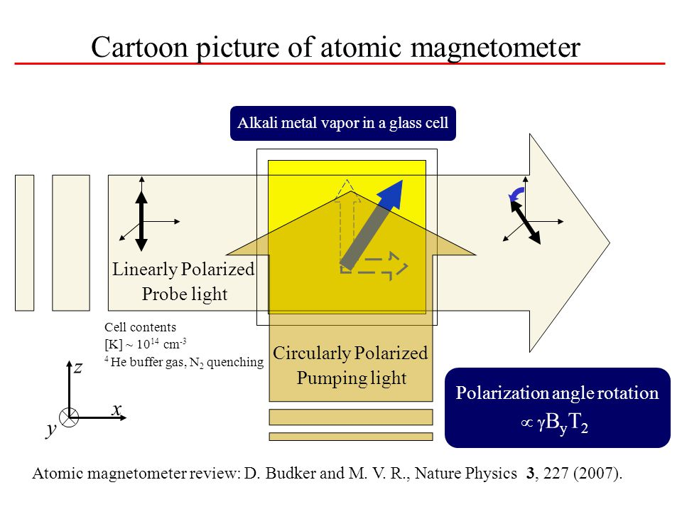 Cartoon picture of atomic magnetometer