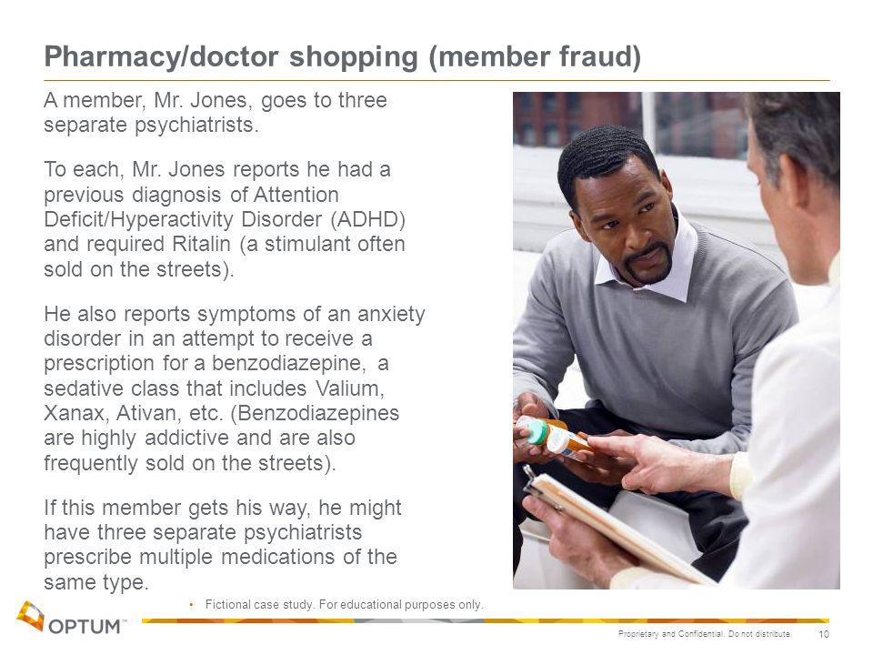 Pharmacy/doctor shopping (member fraud)