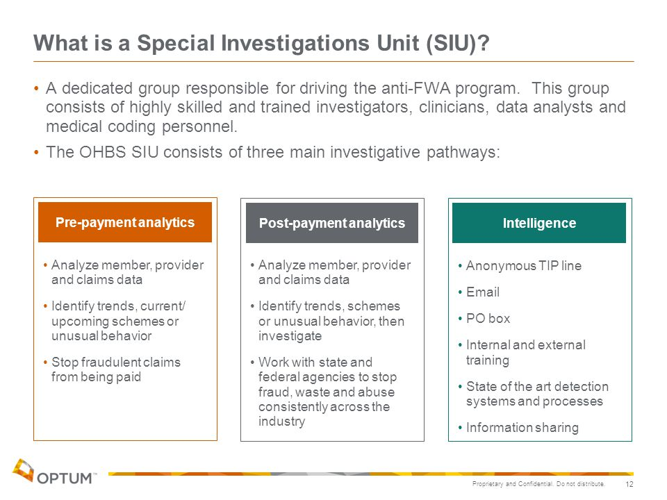 What is a Special Investigations Unit (SIU)