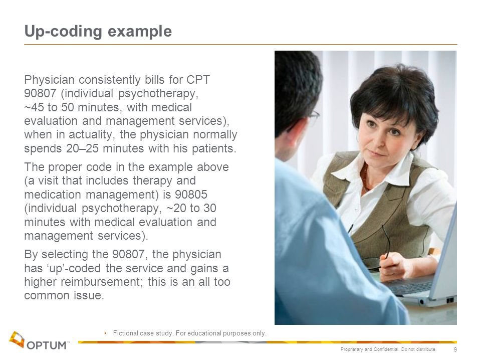Up-coding example