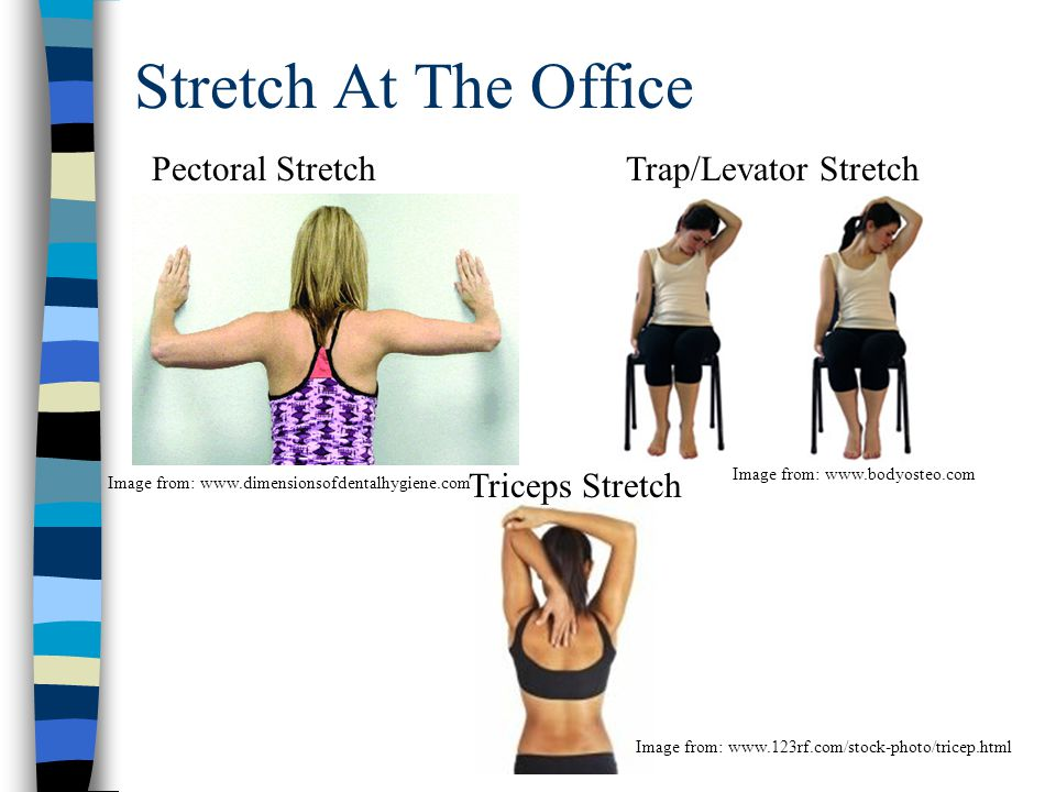 Stretch At The Office Pectoral Stretch Trap/Levator Stretch