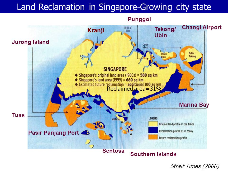Land Reclamation in Singapore-Growing city state