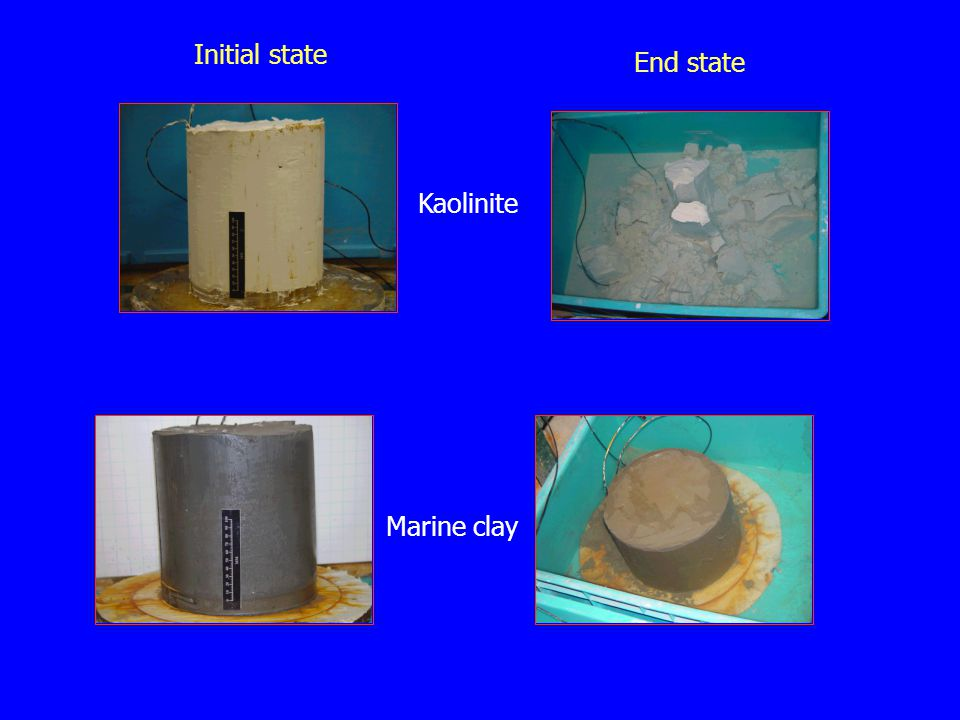 Initial state End state Kaolinite Marine clay