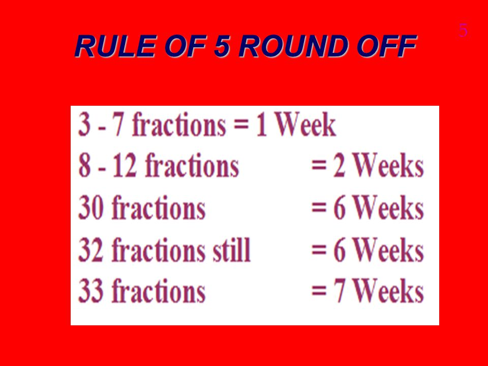 RULE OF 5 ROUND OFF 5