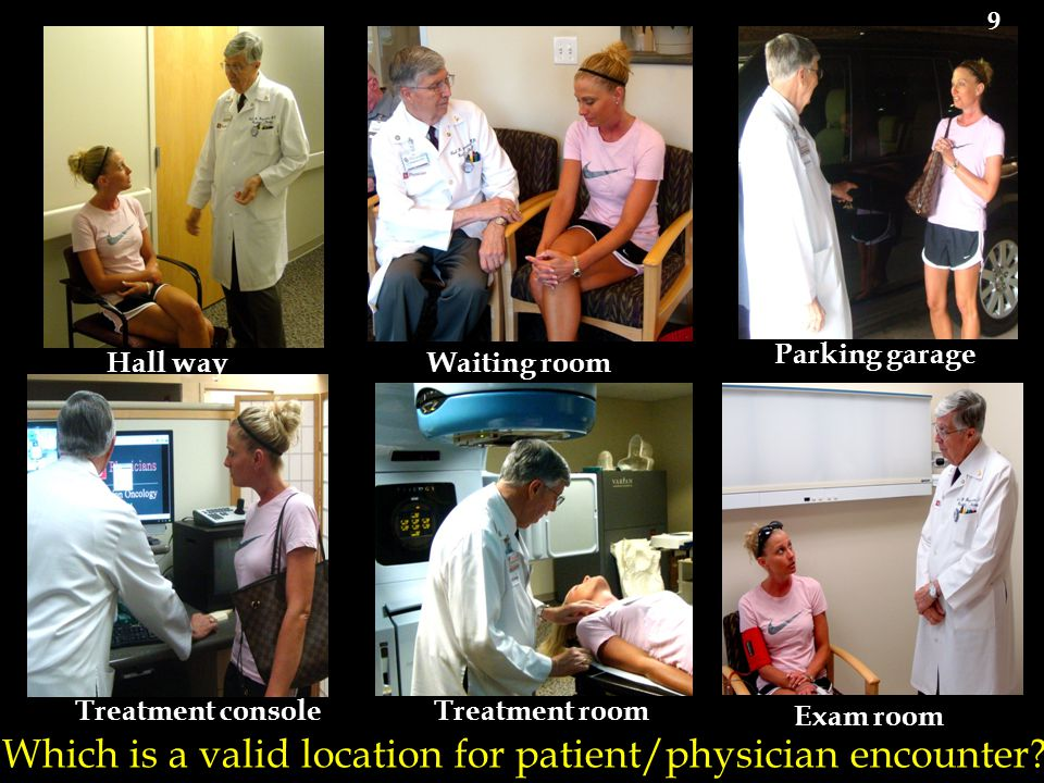 Which is a valid location for patient/physician encounter