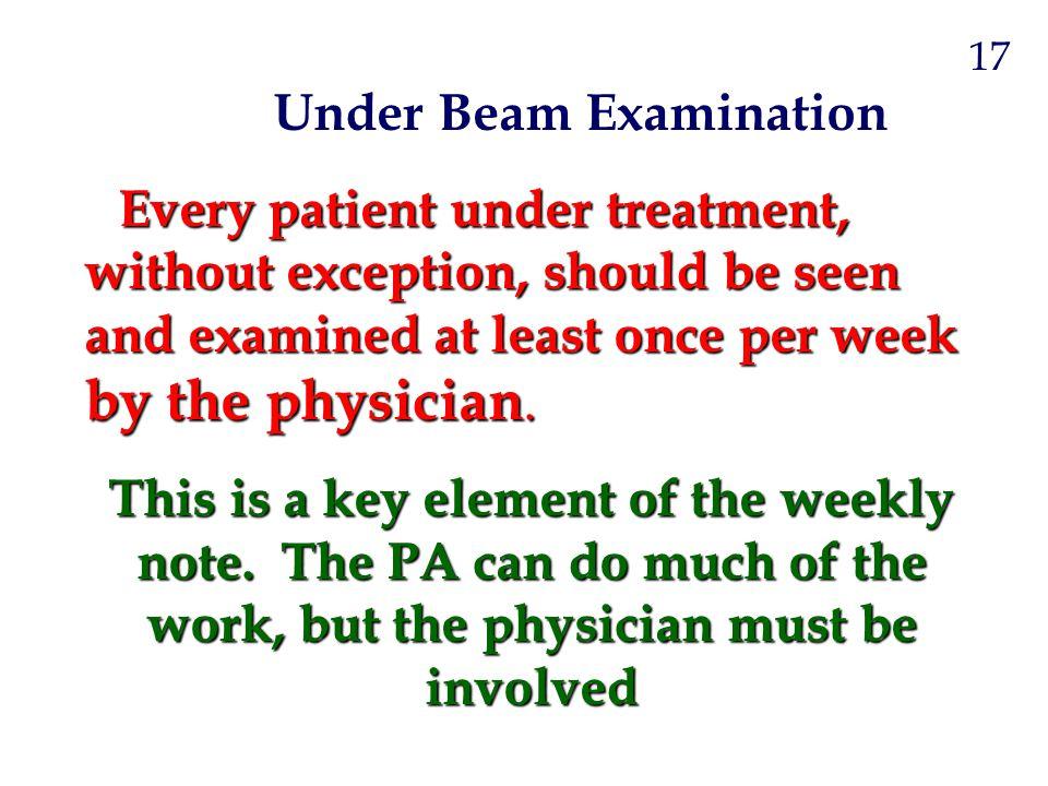 Under Beam Examination