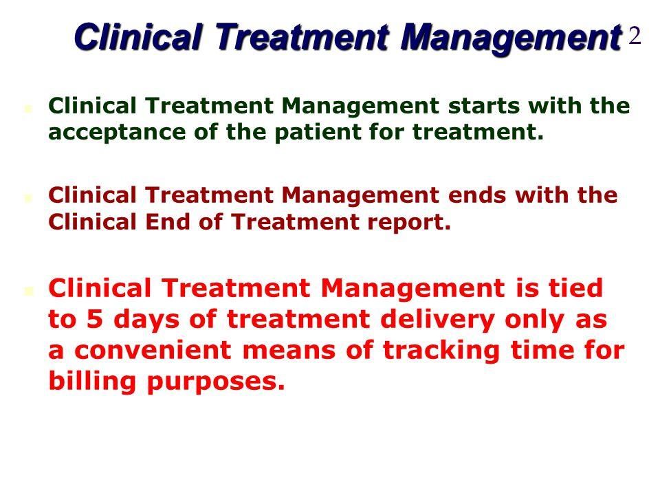 Clinical Treatment Management